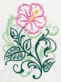 Handdoek met Hibiscus