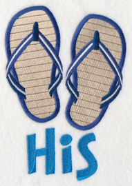 "Handdoek met Slippers - ""His"""