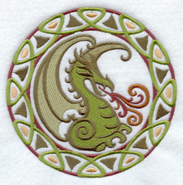 Handdoek of Baddoek met Celtic Circle - Dragon