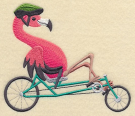 Flamingo op ligfiets - FV04