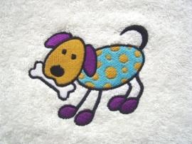 Baby badcape met Hond - BB09