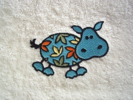 Baby badcape met Nijlpaard - BB04