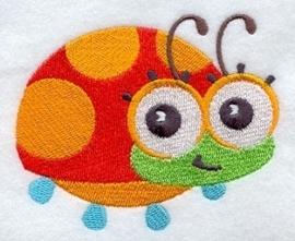 Baby badcape met Lieveheersbeestje - GO10