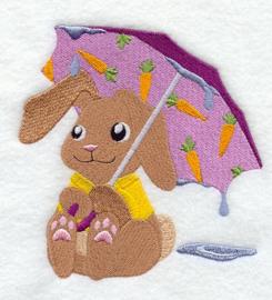 Konijn met paraplu - PB04