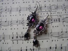OB01 - Gothic oorbellen Wild Roses