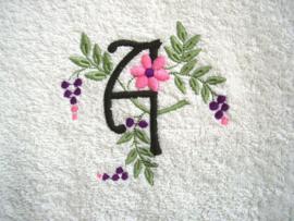 """Gastendoekje met Monogram """"Spring"""""""