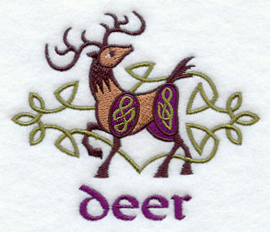 Handdoek of Baddoek met Celtic Deer