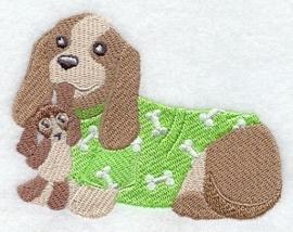 Ledikantlakentje Pyjamadieren - Puppy in Pyjama #2