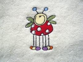 Baby badcape met Lieveheersbeestje - FC03