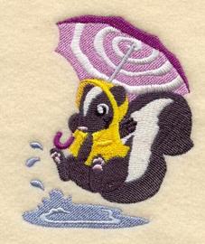 Stinkdier met paraplu - PB06