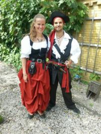 DR22 - Piraten / Rufflerok van katoen