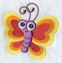 Baby badcape met Vlinder - GO11
