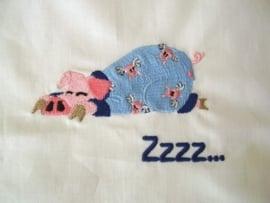 Ledikantlakentje Pyjamadieren - Biggetje in Pyjama