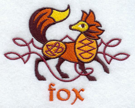 Handdoek of Baddoek met Celtic Fox