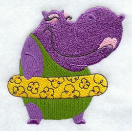 Nijlpaard met zwemband - ZB03