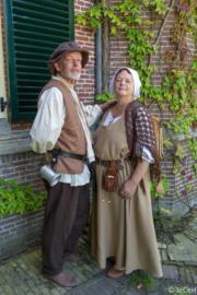 DJ01 - Middeleeuwse jurk met zijsluiting