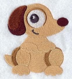 Baby badcape met Puppy - GO06