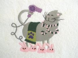 Kat met haardroger - BK01
