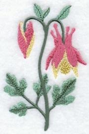 Handdoek of Gastendoekje met Canadese Akelei (Columbine)