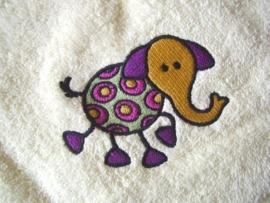 Baby badcape met Olifant - BB01