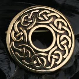 BR03 - Open Keltische broche van brons