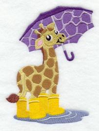 Giraf met paraplu - PB03