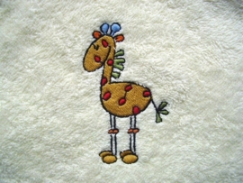 Baby badcape met Giraffe - FC01