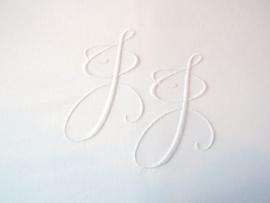 Rolsloop 80 cm - met knoopsluiting en monogram