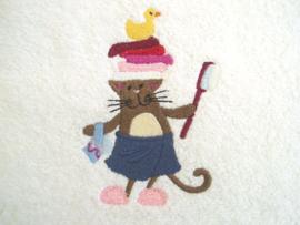 Kat met badborstel - BK05