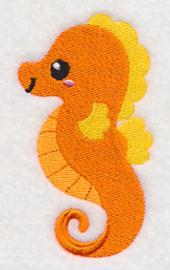 Baby badcape met Baby zeepaardje - ZB06