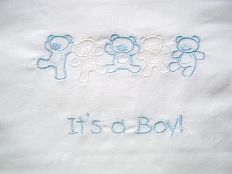 """Wieglakentje """"It`s a Boy"""""""