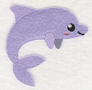 Baby badcape met Baby dolfijn - ZB01