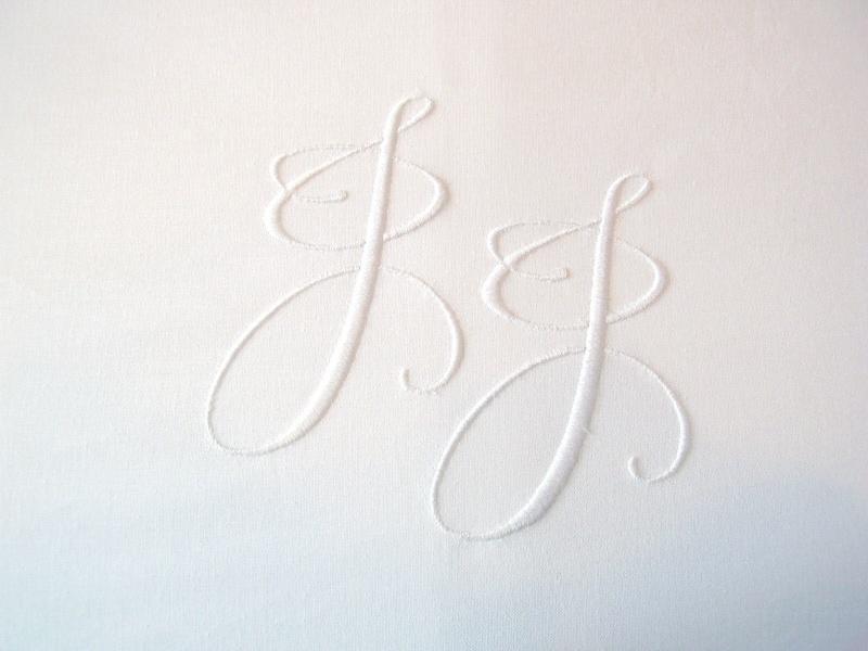 Laken met monogram - 140 x 280 cm