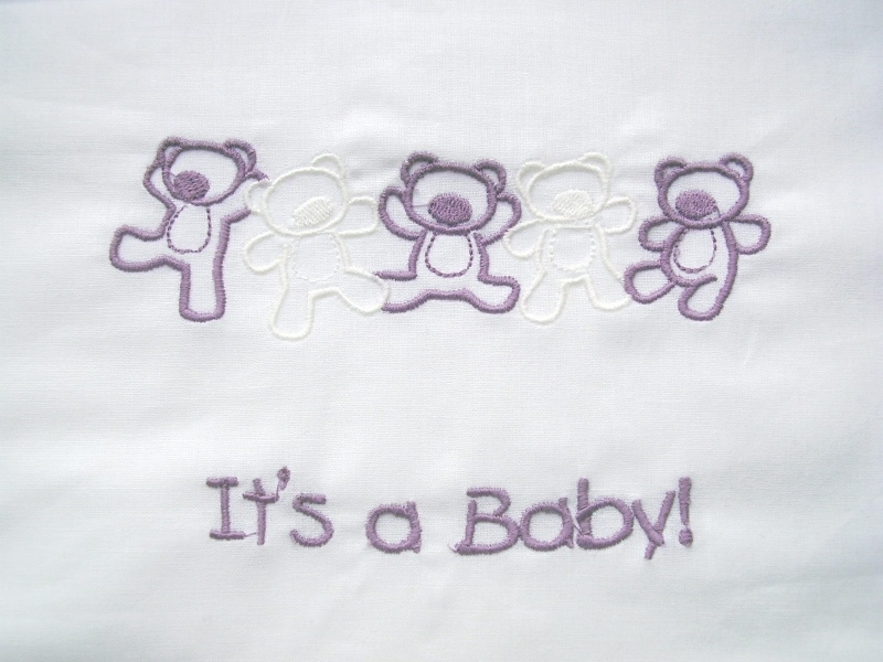 """Wieglakentje """"It`s a Baby"""""""