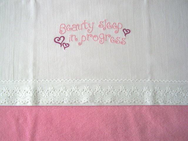 """Wieglakentje """"Beauty Sleep"""" roze"""