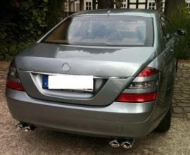 Mercedes W221 S Klasse AMG Look Chromen Sierstuk Eindstuk Uitlaat Bj 2005-2009