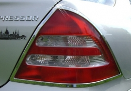 Mercedes W203 C Klasse AMG Look Chromen Achterlampramen Bj 2000-20008