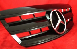 Mercedes W220 S Klasse AMG Look Grill Glanszwart  Bj 2002-2006