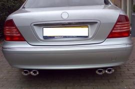 Mercedes W220 S Klasse AMG Look Chromen Sierstuk Uitlaat Eindstuk BJ 1998-2006