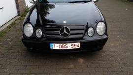Mercedes W208 CLK AMG Look Grill Matzwart Met Chromen Ster Bj 1997-2003