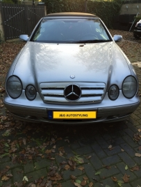Mercedes W208 CLK AMG Look Grill Zilver/Chroom Bj 1997-2003