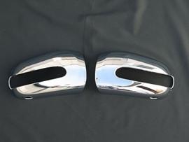 Mercedes W220 S Klasse AMG Look Chromen Spiegelkappen Upgrade Bj 1998-2002