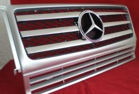 Mercedes W463 Grill G Klasse AMG 010 Look Bj 1990-2010 Zilver