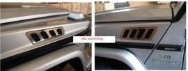 Mercedes W463 G model Edelstaal luchtinlaat roosters Bj 1990-2014