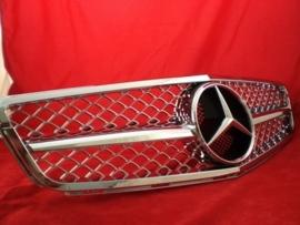 Mercedes W204 C Klasse C63 AMG Look Grill Chroom Bj 2007-2014
