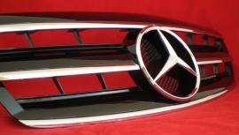Mercedes W220 S Klasse  AMG Look Grill Zwart/Chroom Bj 2002-2006