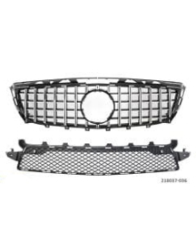 Mercedes  W218 CLS Panamericana AMG Look  grill Sportgrill Bj 2011-2014 Glanszwart/Chroom