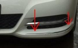 Mercedes W204 C Klasse AMG Look Chromen Llijsten voor de Voorbumper vanaf 04-2011