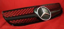 Mercedes R230 SL AMG Look Grill Sportgrill Bj 2001-2011 Glanszwart