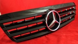 Mercedes W220 S Klasse AMG Look Grill Glanszwart  Bj 1998-2002